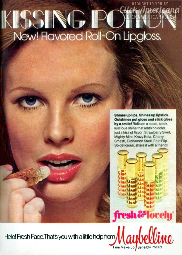 Young Kim Basinger For Maybelline Kissing Potion 1975
