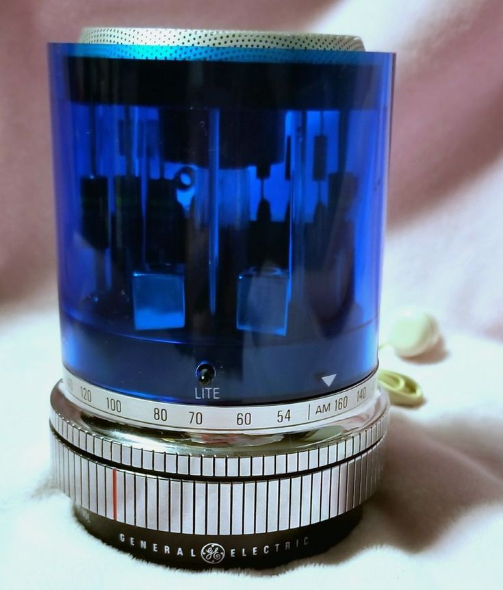 1969 General Electric Blue  AM Transistor Radio Police Light GE Works  #GeneralElectric