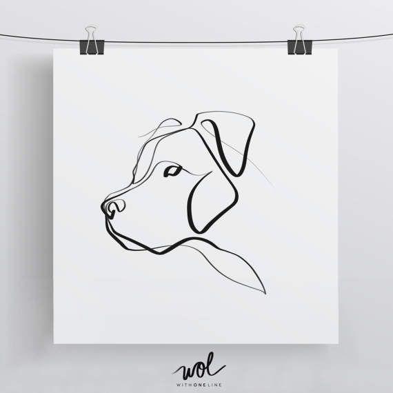 Pit Bull Art | Pit Bull Print | Pit Bull Gift | Minimal One Line Art | Pitbull Art Print | Hund drucken | Simple Dog Art | Haustier Print | Hundeliebe – Luna wolf