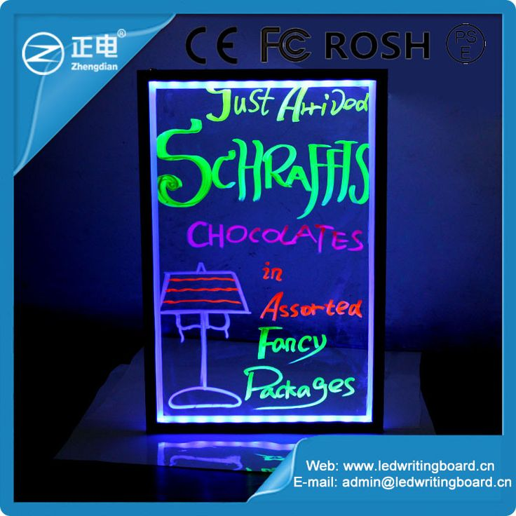 Top selling mini led writing board aluminium alloy RGB5050 sidewalk sign stand led sandwich board lighting