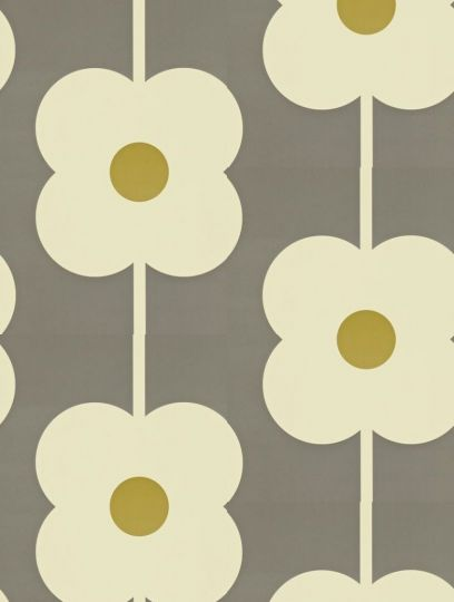Giant Abacus Flower, a feature wallpaper from Orla Kiely, featured in the Orla Kiely Wallpapers collection.