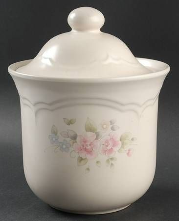 Pfaltzgraff Tea Rose Medium Canister, Fine China ...