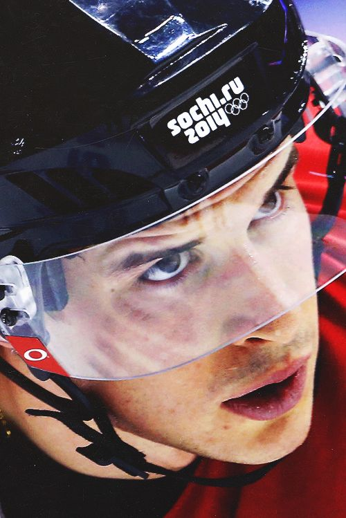 (12) sidney crosby | Tumblr  Sidney Crosby is at his second olympic games. He was an assistant in 2010 olympics and also scored the goal who gave the gold medal for team canada. He plays for the Pitsburgh Penguins and won a Stanley Cup. This year he was nammed captain of the team and ask Jonothan Toews's permission to be the captain. #trueleader