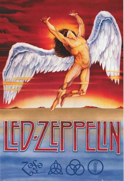 A great Led Zeppelin poster featuring the logo for their Swan Song record label! Perfect for any fan. Fully licensed - 2012. Ships fast. 24x36 inches. Ramble On over and check out the rest of our sele