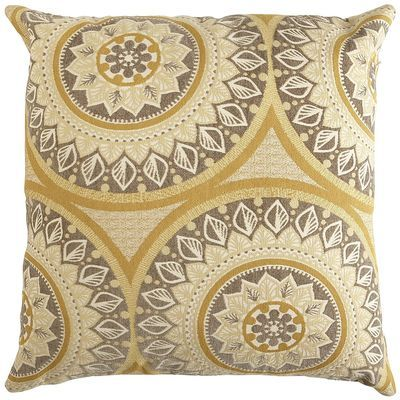 Ophelia Oversize Pillow - Suzani Gold | Pier 1 Imports by pier1.com $50