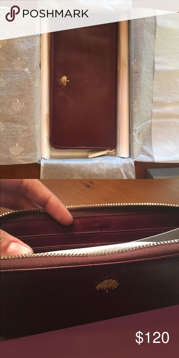Mulberry Oxblood Wallet Mulberry wallet in Oxblood. Never used! Mulberry Bags Wallets
