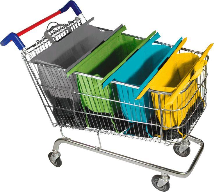 Chariot de courses design Sac de courses pliable Grand chariot de transport facile de voyage réutilisable-Pastel