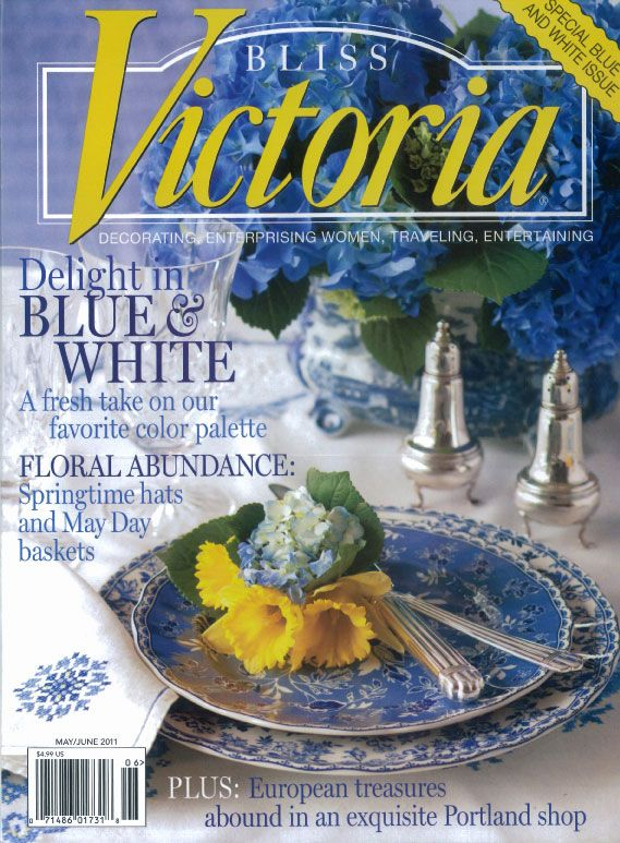 Victoria Magazine, May 2011, Blue and White Issue