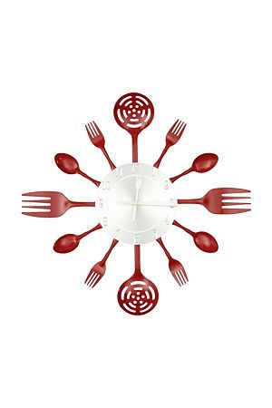 "Add a quirky sense of charm to your kitchen with our unique fork, spoon and ladle clock.<div class=""pdpDescContent""><BR /><b class=""pdpDesc"">Dimensions:</b><BR />L37.5 cm</div>"