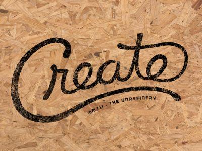 Create Script. #typography #texture #danhoran #dribbble