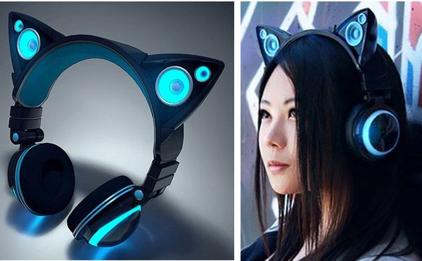 Cat Ear Headphones. i would love to have these :3
