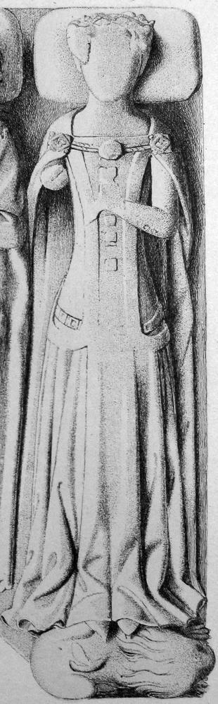 Surcoat Detail: Blanche de la Tour; English (1340)
