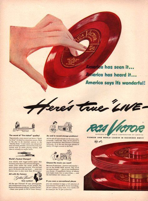 872 Best Images About Vintage Record Advertising On