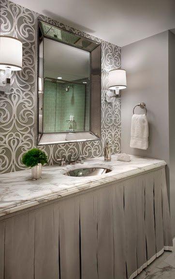 Things We Love:  Skirted Sinks - Frank Ponterio Design