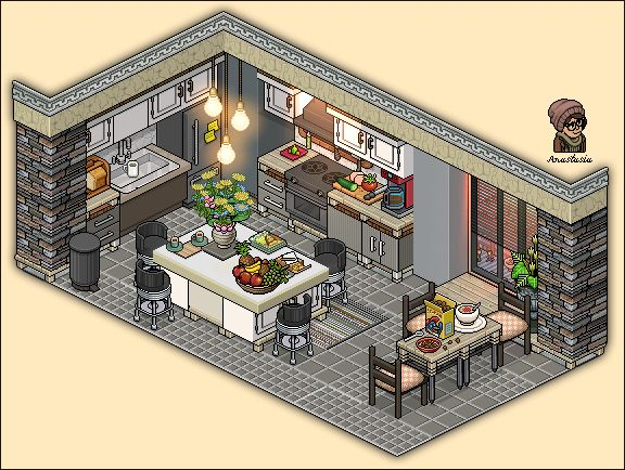 20 best images about habbo rooms on pinterest apartment for Casa moderna habbo 2017