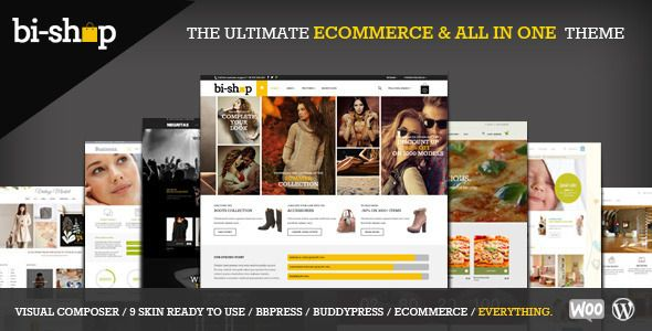 Bi Shop All In One Ecommerce Corporate Theme Free Download Design for eCommerce business, come with unlimited design options, also it is responsive too. http://goo.gl/4AuMq6