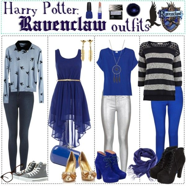 """""""Harry Potter: Ravenclaw Outfits"""" by roseygal-16 on Polyvore"""