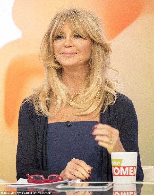 The newbie: Goldie Hawn made her debut on Loose Women on Monday afternoon...