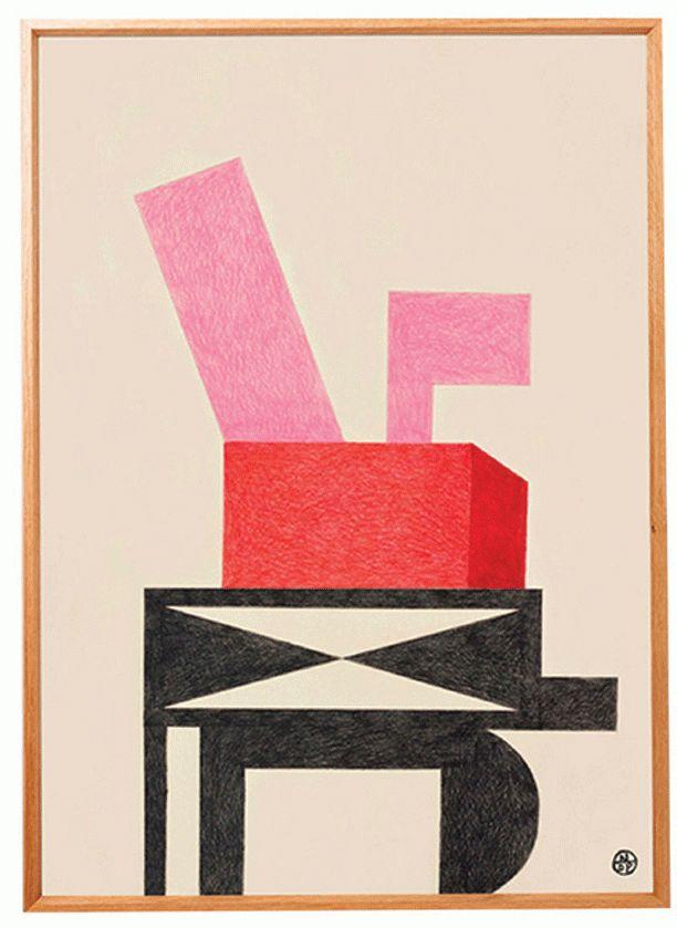 Vi elsker franske nathalie du Pasquiers smukke tegninger og billeder. Hendes streg er lige så relevant i dag, som da hun var talk of town i 1980'erne.  'Ri' 2016', tryk, Nathalie du Pasquier, thewrongshop.co.uk, 3.075 kr.