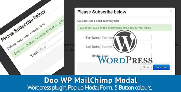 Doo WP MailChimp Modal (Forms)