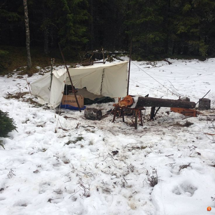 Winter Camping With A Tarp Or Open Fronted Tent Shelters