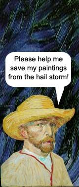 The Vincent Van Gogh Hail Storm Game Could also be used for art criticism activity - students write in what they think the artist is thinking or trying to convey etc.