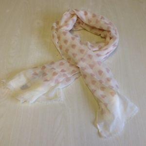 Valentines Heart Print Scarf Pink & Cream Shabby Chic Gift Pia Rossini Dante