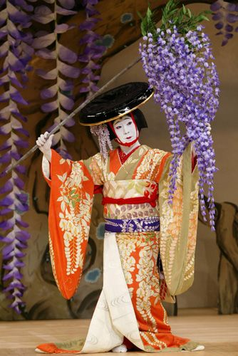 Nakamura Kanzaburo XVIII as Fujimusume