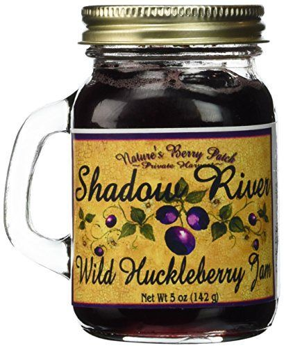 Shadow River Wild Huckleberry Gourmet Jam, 5oz Shaker Jar (Pack of 2) - http://mygourmetgifts.com/shadow-river-wild-huckleberry-gourmet-jam-5oz-shaker-jar-pack-of-2/
