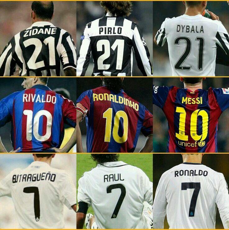 Números míticos en la Juventus, F.C.Barcelona y Real Madrid.