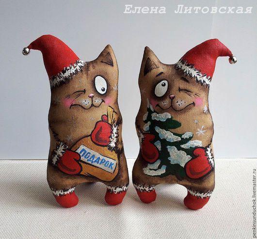Ароматизированные куклы ручной работы. Ярмарка Мастеров - ручная работа. Купить Новогодний кофейный кот, стоячий. Handmade. Кофейная игрушка