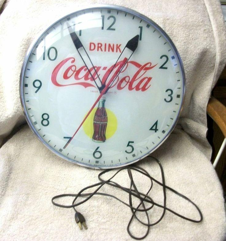 65 Best Vintage Soda Clock Sign Images On Pinterest Soda