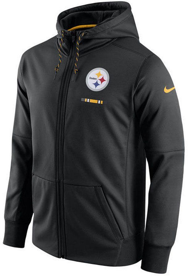 Nike Men's Pittsburgh Steelers Therma Full-Zip Hoodie