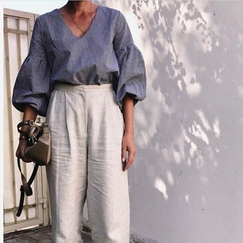 "Love the coolness of this woman @mommyplaysdressup featuring ""MARION"" top #karavan #karavanclothing #karavangirl"