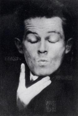Egon Schiele, Photographic self-portrait with eyes closed, 1914.: Photographers Selfportrait, Eyes Close, Art Ist, Nz Artists, Actor Artists Author, Arti People, Photographers Self Portraits, Art Artista, Egon Schiele