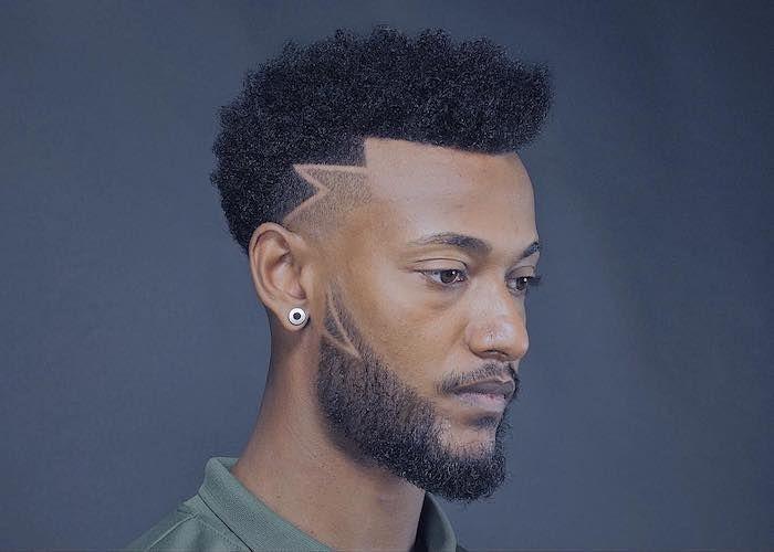 Black Curly Hair Green Shirt Black Beard Short Hairstyles For Men Blue Background Mens Hairstyles Oval Face Hairstyles Curly Hair Men