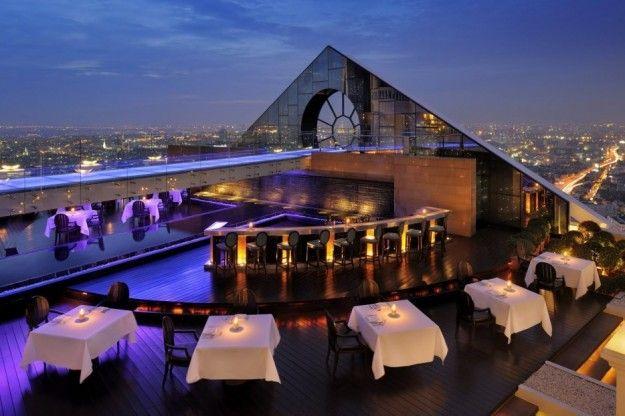 Un rooftop bar a Bangkok