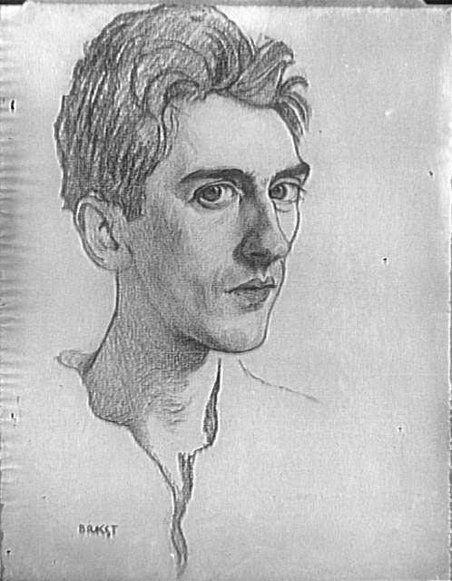 http://beta.wikiart.org/ru/leon-bakst Портрет Жана Кокто. Леон Бакст.