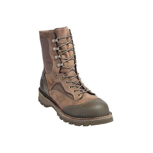 Danner Boots Men's Brown USA 15670X USMC RAT Hot Military Boots ($330) ❤ liked on Polyvore featuring men's fashion, men's shoes, men's boots, mens shoes, mens brown combat boots, mens army boots, mens boots and mens military boots