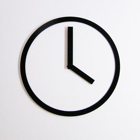 This is the epitome of simplicity for a clock.
