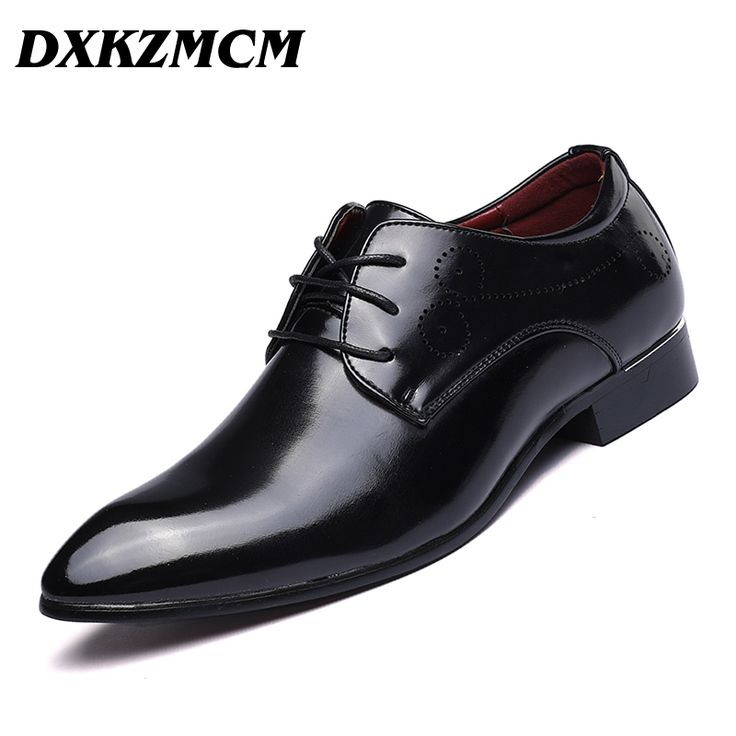 ==> [Free Shipping] Buy Best DXKZMCM Italian Stylish Mens Wedding Black Brogue PU Leather Buckle Party Casual Business Formal Dress Shoes Online with LOWEST Price | 32819663530