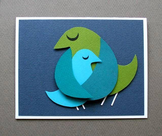 Открытки с птицами своими руками шаблоны, открытки