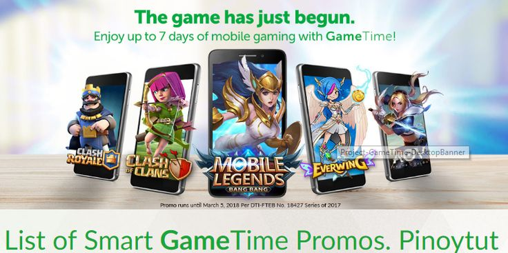 Enjoy playing your favorite online mobile game with Smarts latest internet data promo called Game or Game Time . It gives you access to Mobile Legends Clash of Clans (COC) Clash Royale Arena of Valor and Everwing for only 50 or 100 pesos only. What makes it more exciting is that it also gives you free 50 or 100 battle tickets if you are a player of Mobile Legends. You are given a code upon subscription that you can redeem by logging in to the games official website. The Smart Game 50 and…