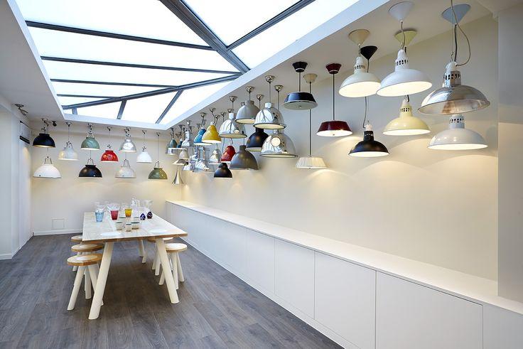 Inside the Paris showroom-pendants galore!