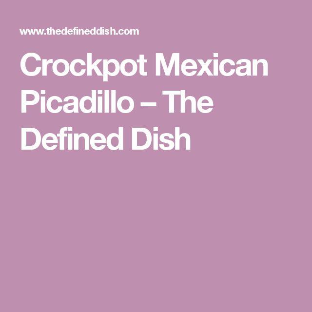 Crockpot Mexican Picadillo – The Defined Dish