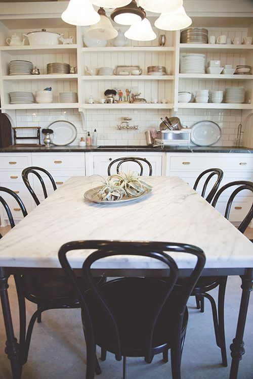 Living With Kids: Mary Heffernan. Marble Dining TablesKitchen ...