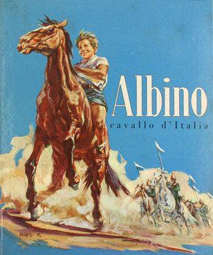"""ALBINO, detto """"il Cavallo d'Italia"""", era un baio maremmano cresciuto con un bambino contadino. Le necessità della guerra portarono l'Esercito a requisire il cavallo. Raggiunta la maggiore età il padroncino si arruolò nella Cavalleria per ritornare a condividere la giornata con Albino. Cavallo e cavaliere si distinsero in imprese disperate della 2a Guerra Mondiale fino alla morte del fante e all'accecamento di Albino che, scosso, proseguì la carica nella steppa russa fino alla vittoria. In…"""