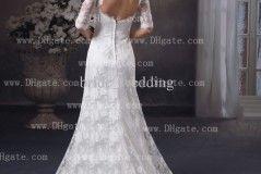 Sheer Lace Back Wedding Dresses Design