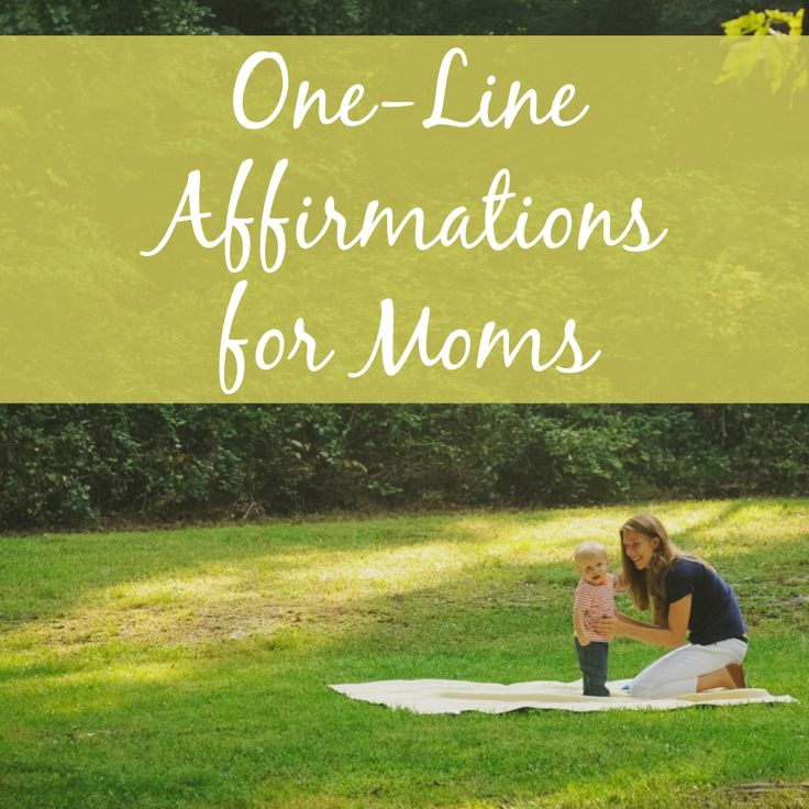 Banish the negative self-talk with these 20 quick, one-line affirmations for moms!
