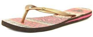 Roxy Bermuda Women Open Toe Synthetic Multi Color Flip Flop Sandal.